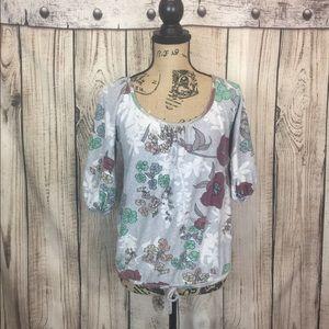 5/$18🔥SALE🔥American Rag Floral Tie Waist Top